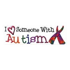 Autism Awareness Love w/Ribbon 36x11 Wall Peel