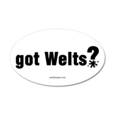 Got Paintball Welts 20x12 Oval Wall Peel