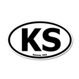 Kansas 20x12 Oval Wall Peel