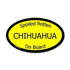 Spoiled Chihuahua On Board 20x12 Oval Wall Peel