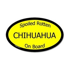Spoiled Chihuahua On Board 35x21 Oval Wall Peel