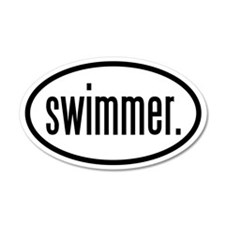 swimmer. 35x21 Oval Wall Peel