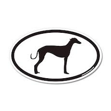 Greyhound Euro 35x21 Oval Wall Peel