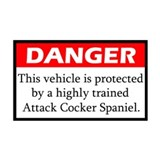 Danger Cocker Spaniel Sticker