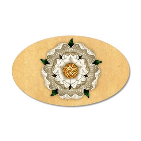 White Rose York 20x12 Oval Wall Peel