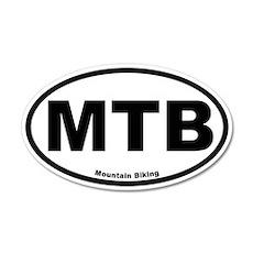 MTB (Mountain Biking) 35x21 Oval Wall Peel