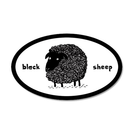 Black Sheep 35x21 Oval Wall Peel
