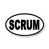 SCRUM 20x12 Oval Wall Peel