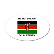 In my dreams I'm a Kenyan 20x12 Oval Wall Peel