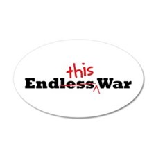End This War 35x21 Oval Wall Peel