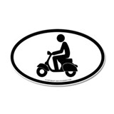 """Vespa"" - 20x12 Oval Wall Peel"