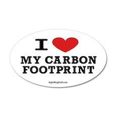 I Love My Carbon Footprint 20x12 Oval Wall Peel
