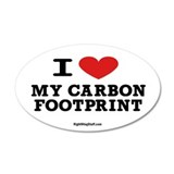 I Love My Carbon Footprint 35x21 Oval Wall Peel
