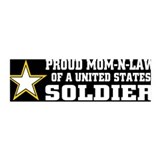 Army Proud Mom in law 36x11 Wall Peel