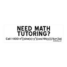 Need Math Tutoring?, 20x6 Wall Peel