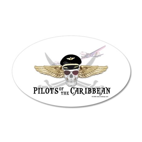 Pilots of the Caribbean 20x12 Oval Wall Peel