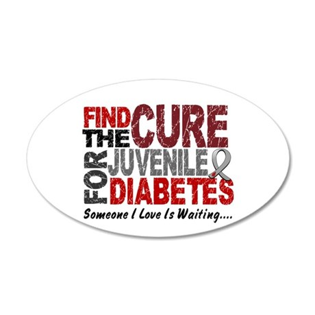 Find The Cure 1 JUV DIABETES 20x12 Oval Wall Peel
