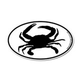 Crab SILHOUETTE 20x12 Oval Wall Peel