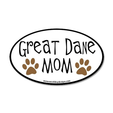 Great Dane Mom Oval 35x21 Oval Wall Peel