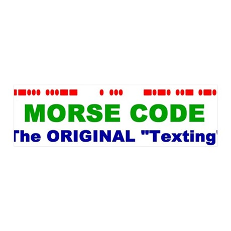 "36x11 Wall Peel - Morse Code The Original ""Te"