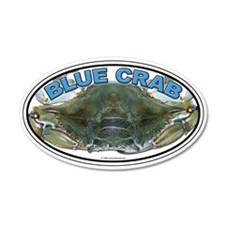 Blue Crab 35x21 Oval Wall Peel
