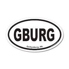 Gettysburg GBURG Euro 35x21 Oval Wall Peel