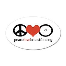 Peace, Love & Breastfeeding 35x21 Oval Wall Pe