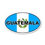 Flag of Guatemala 35x21 Oval Wall Peel