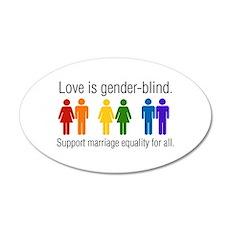 Marriage Equality 20x12 Oval Wall Peel