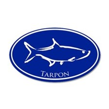 Blue Tarpon 20x12 Oval Wall Peel