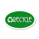 RECYCLE 35x21 Oval Wall Peel