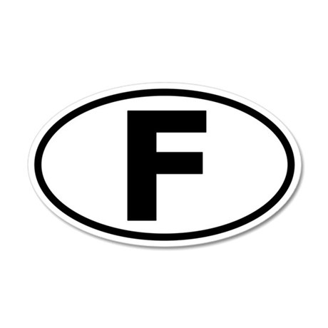 France Oval Euro Style Sticker (Non-Branded)