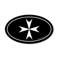 Maltese Cross 20x12 Oval Wall Peel -Black (Oval)