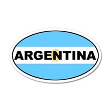 Argentina National Flag 35x21 Oval Wall Peel