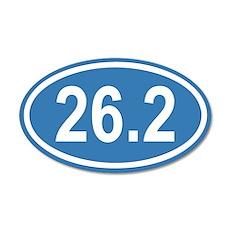 26.2 Marathon Blue Euro 35x21 Oval Wall Peel