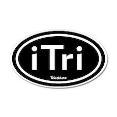 iTri Black 35x21 Oval Wall Peel (Oval)