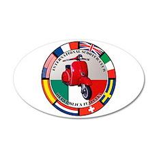 ITALY VESPA SCOOTER 35x21 Oval Wall Peel