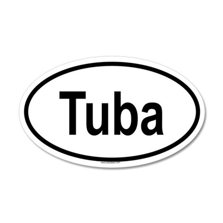 TUBA 20x12 Oval Wall Peel