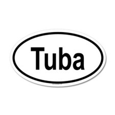 TUBA 35x21 Oval Wall Peel