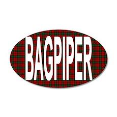 Bagpiper 20x12 Oval Wall Peel