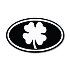 Shamrock Oval 35x21 Oval Wall Peel