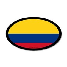 Colombian Flag 20x12 Oval Wall Peel