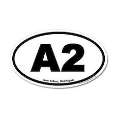 A2 Ann Arbor Michigan Euro 35x21 Oval Wall Peel