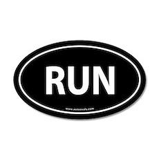 Run 35x21 Oval Wall Peel -Black (Oval)