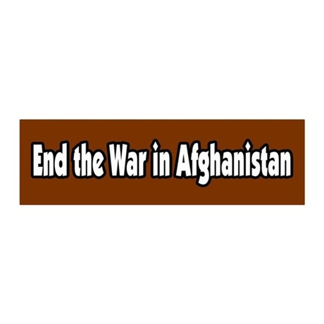 End the war in Afghanistan Peace 20x6 Wall Peel