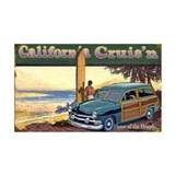 CALIFORNIA CRUIS'N 35x21 Wall Peel