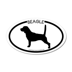 """Beagle"" White 20x12 Oval Wall Peel"
