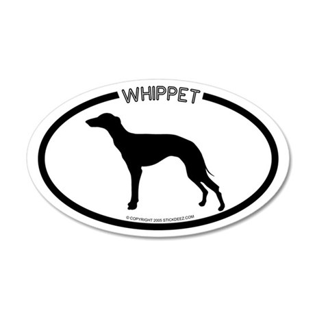"""Whippet"" White 35x21 Oval Wall Peel"
