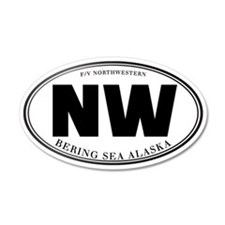 Northwestern Crew 20x12 Oval Wall Peel