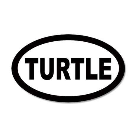 Turtle 20x12 Oval Wall Peel